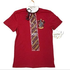 NWT Harry Potter Gryffindor T Shirt, Tie, Glasses
